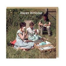 Unique Vintage Retro Greetings Cards - Tea Time 1960s Nostalgia Birthday Picnic