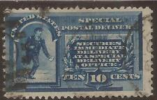 Us Sc# E1 used 10c Special Delivery, 2 scans cv $80.00
