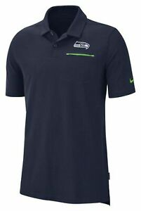 $85 NIKE seattle seahawks NFL sideline elite mens POLO SHIRT AO3896-419 L/large