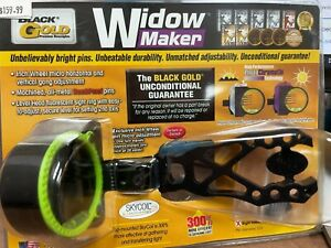 Black Gold Widow Maker Right Hand 4 Pin Bow Hunting Sight
