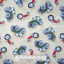 Green Mountain Farm Fabric - Country Tractor Toss Cream - Wilmington YARD