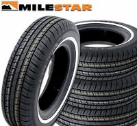 "4 Milestar MS775 P155/80R13 79S ""White Wall"" All Season Tires NEW"