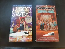 Richard Simmons Disco Sweat and Sweatin' to the Oldies Exercise Workout VHS duo