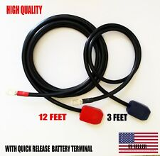 Battery Relocation Kit, # 2 AWG Cable, Top Post 12 FT RED/ 3 FT BLACK