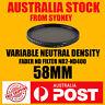 Variable Neutral Density Fader ND2 ND400 ND Filter 58mm Camera Lens DSLR New