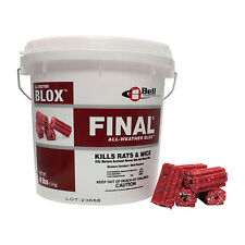 Final Blox Rodenticide 16 Lbs Rat Mouse Rodent Bait Fast Acting Brodifacoum .005