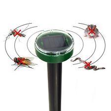 Solar Electronic Pest Repeller Power Ultrasonic Gopher Mole Snake Mouse Reject