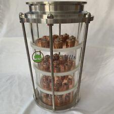 "6"" Glass Copper Bubble Plate Moonshine Reflux Column"