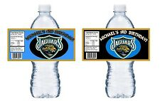 JACKSONVILLE JAGUARS PERSONALIZED BIRTHDAY PARTY FAVORS ~ WATER BOTTLE LABELS