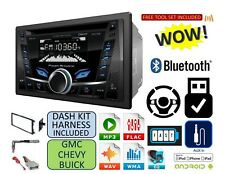 FITS GM CAR-TRUCK-VAN-SUV CD Bluetooth Usb Aux Radio Stereo Double Din Dash Kit