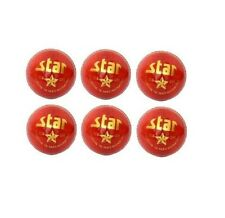 All Leather Cricket Ball Pack Of 6 Star Red Hand Stitch 5.5oz Cricket World