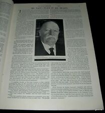 WILLIAM HOWARD TAFT 1930 EULOGY FEATURE PRESIDENT & SUPREME COURT CHIEF JUSTICE