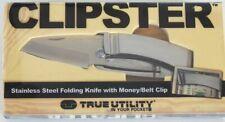TRUE UTILITY CLIPSTER TASCHENMESSER MIT MONEY CLIP NEU/OVP