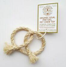 Organic Sisal Pretzel Pet Chew Toy for Rabbit Guinea Pig Chinchilla Small Pets