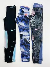 Nike Pro Girls Size Small 8 10 Athletic Activewear Workout Leggings LOT of 3