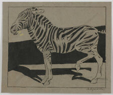"Martha Hofrichter (1872-1960) ""Zebra"", Drawing, ca.1900"