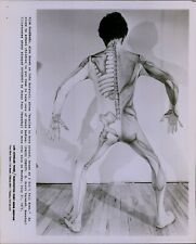 LG834 '75 Original Photo SLIM GOODBODY John Burstein Man in Skeleton Muscle Suit