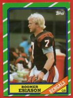 1986 Topps #255 Boomer Esiason Rookie EX-EXMINT+ Cincinnati Bengals FREE SHIP