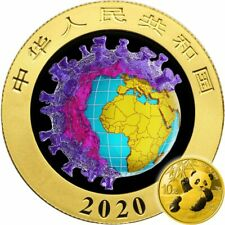 China Chinese Silver Panda BIOLOGICAL WEAPON 19COVID CORON VIRUS 2020 ¥10 Coin