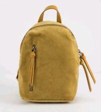 T-SHIRT & JEANS Corduroy Mini Backpack Yellow New