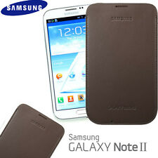 Genuine Samsung N7100 Galaxy Note II Note 2 Pouch Case EFC-1J9LDEGSTD - Brown
