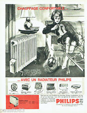 PUBLICITE ADVERTISING 066  1963  Philips  les radiateurs  d'appoint éléctriques