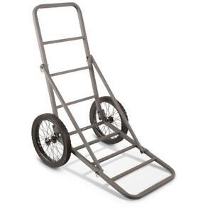 "Guide Gear 3A-HT103 Deer Cart, 16"" Solid-Rubber Spoked Wheels (19"" x 64""/300-lb)"