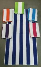 """Cabana 11 lbs White Stripe Beach Towel 6 Color Pack - Size 29"""" X 59"""""""
