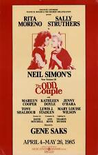 ODD COUPLE, THE (1985) Theatre poster for Broadway revival / Moreno, Struthers