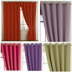 Woven Blackout Bedroom Eyelet Curtains - Stock Must Go - NOW £10, £15 & £20