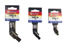 3 PC . Universal Joint swivel Socket Set 1/4 Dr. + 3/8 Dr.+ 1/2 Dr. USA