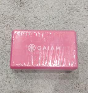 "Gaiam PINK Yoga Brick Block Support 9"" X 5"" X 3"""