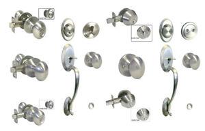 Satin Nickel door knob oval egg entry locks privacy passage deadbolt Brushed