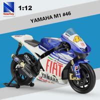 1:12 MotoGP YAMAHA YZR-M1 Fiat Team #46 Valentino Rossi Racing Motorcycle Model