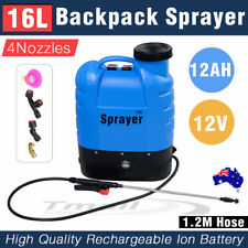 12V 16L Electric Weed Sprayer Rechargeable Backpack Farm Garden Pump Power Spray