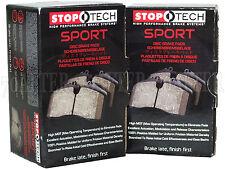 Stoptech Sport Brake Pads (Front & Rear Set) for 09-14 Infiniti G37 Sedan Non-S