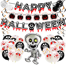 25pcs Halloween Party Decoration Set, Happy Halloween Balloons and Banner for