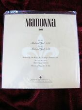 "Madonna EXTREMELY RARE SEALED & MINT Material Girl US PROMO Vinyl Record 12"" LP"