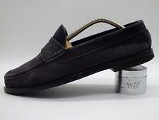 BALLY Herrenschuhe Gr. 6½ (40) dunkelblau Slipper Pennyloafer Handarbeit Leder