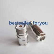 5X UHF SO239 Female straight connector clamp for RG8 RG165 RG213 LMR400 cable