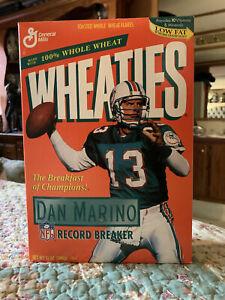 *Full/Sealed* 1995 Dan Marino NFL Record Breaker Wheaties Cereal Box + $10 CARDS