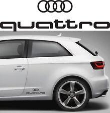 2 adesivi logo audi quattro sticker side fiancate A1 A3 A4 A5 A6 Q3 Q5 Q7 S1 S3