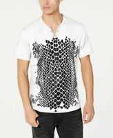 INC Mens T-Shirt Classic White Black Size XL Zebra Print Graphic Tee $29- 174