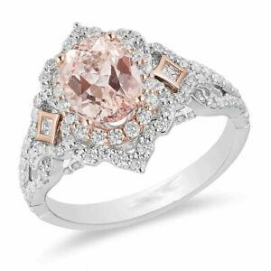 Pink Oval Cut Diamond Enchanted Disney Wedding Ring 925 Sterling Silver ssg-01