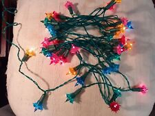 VINTAGE CHRISTMAS TREE  FAIRY LIGHTS. WOOLWORTHS. SET OF 40. WORKING.(LOT K)