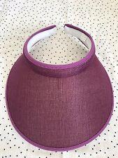 Women Lady Fashion Large Clip On Visor Wide Brim Sun UV Protection Cap -PURPLE