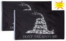 Gadsden Black/White Flags - 2-Piece Don't Tread On Me Flags Tea Party Flag 3'x5'