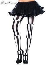 Leg Avenue Halloween woven Optical Illusion costume opaque striped tights 7904