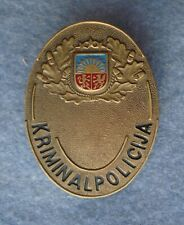 Badge State Criminal Police Republic of Latvia 1990's Baltics