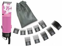 New Oster Classic 76 Pink Flower Limited Edition Hair Clipper + 10 PC Comb Set